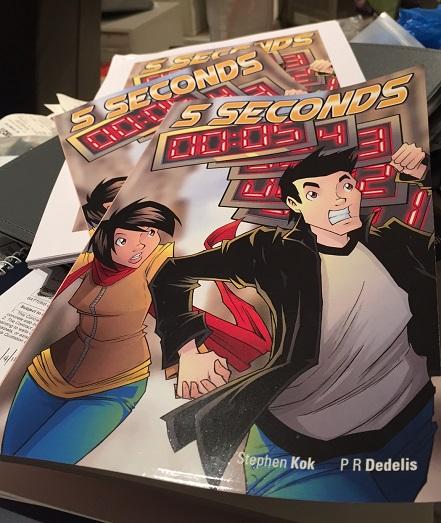 5 Seconds, Jake, Ellie, Kickstarter, Creative Arts Partnership, Graphic Novel, Dragons, Sketches, Proof, Cover