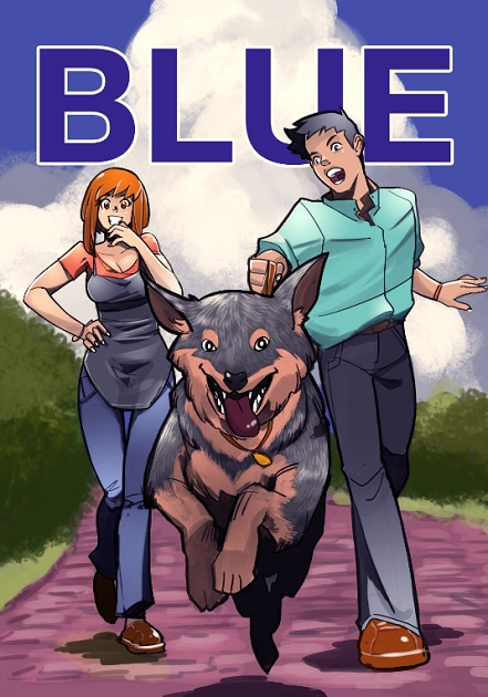 Blue, Kickstarter, Graphic Novel, Cheun, Australian Cattle Dog, Comic, Australia