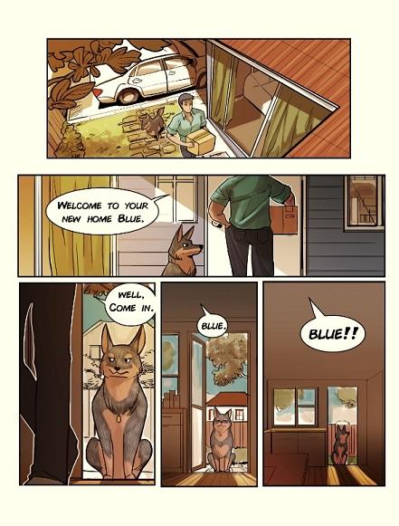 Blue, Kickstarter, Graphic Novel, Cheun, Australian Cattle Dog, Comic, Australia