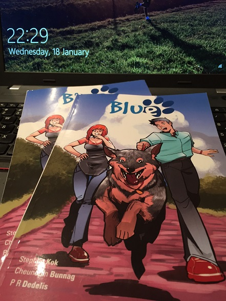 Blue, Kickstarter, Graphic Novel, Cheun, Australian Cattle Dog, Comic, Australia, Staff Pick, Project We Love, Cover