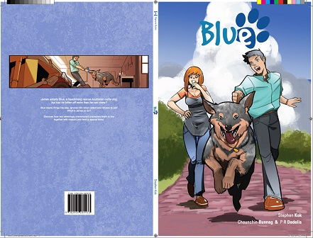 Blue, Kickstarter, Graphic Novel, Cheun, Australian Cattle Dog, Comic, Australia, Staff Pick, Project We Love, Cover