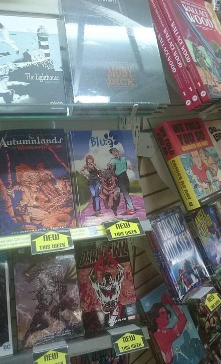 Blue, Kickstarter, Graphic Novel, Cheun, Australian Cattle Dog, Comic, Australia, Staff Pick, Project We Love, Cover, Impact Comics ACT